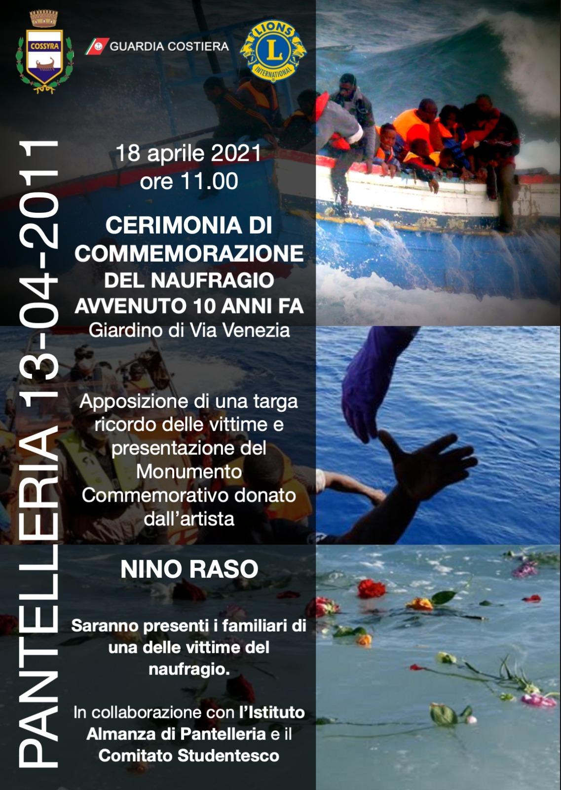 Commemorazione del naufragio del 18 Aprile 2011