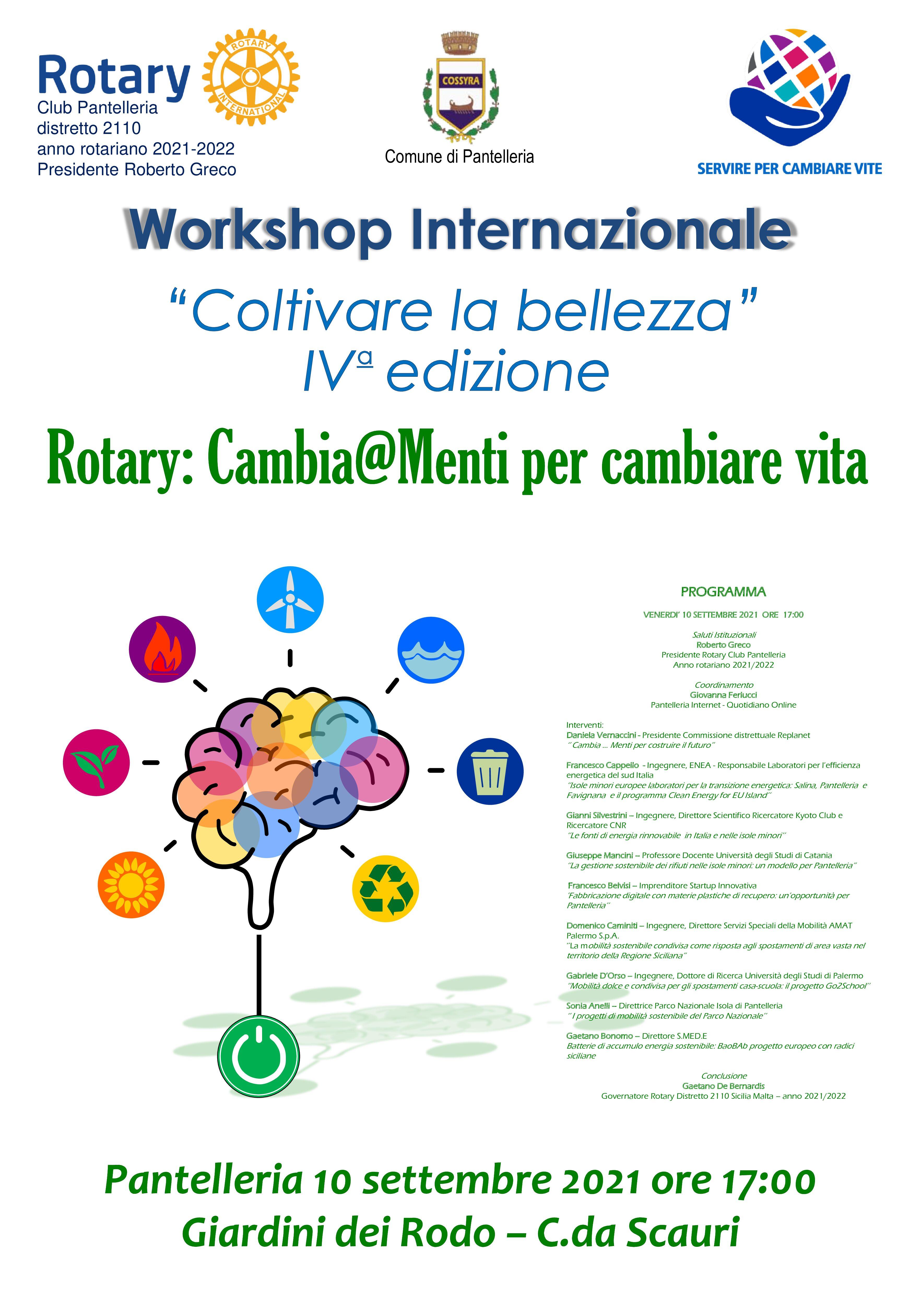 """Workshop Internazionale """"Coltivare la bellezza"""" IV edizione"""