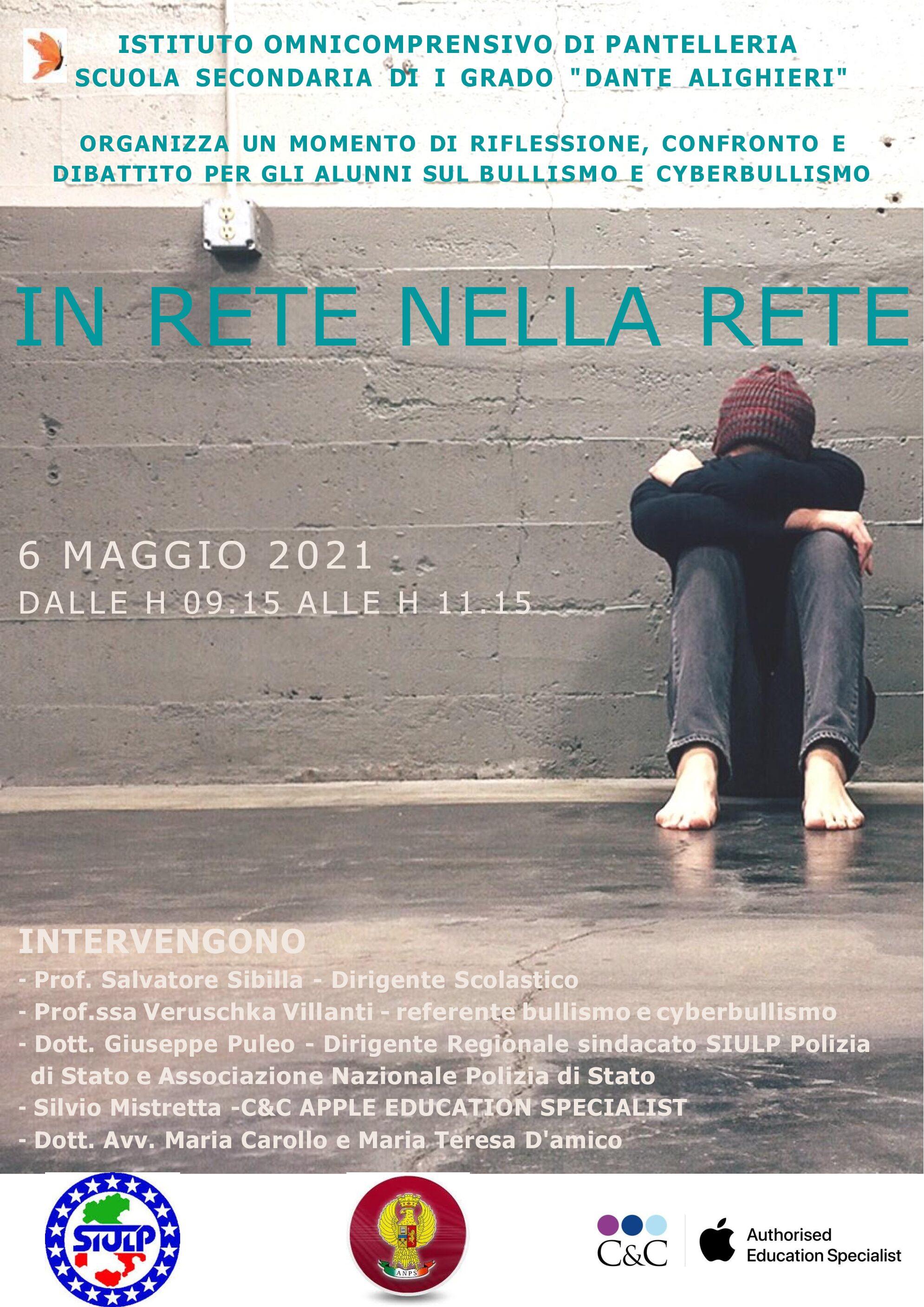 """Attività d'INFORMAZIONE/PREVENZIONE al Bullismo e Cyber-bullismo rivolte alle classi PRIME della Scuola Secondaria di I° grado """"D. Alighieri"""" di Pantelleria"""